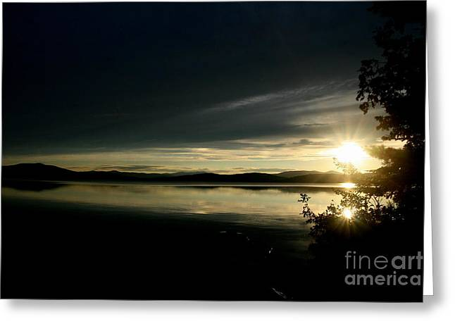 Beauty In Nature Greeting Cards - Sunset on Lake Umbagog No. 2  Greeting Card by Neal  Eslinger