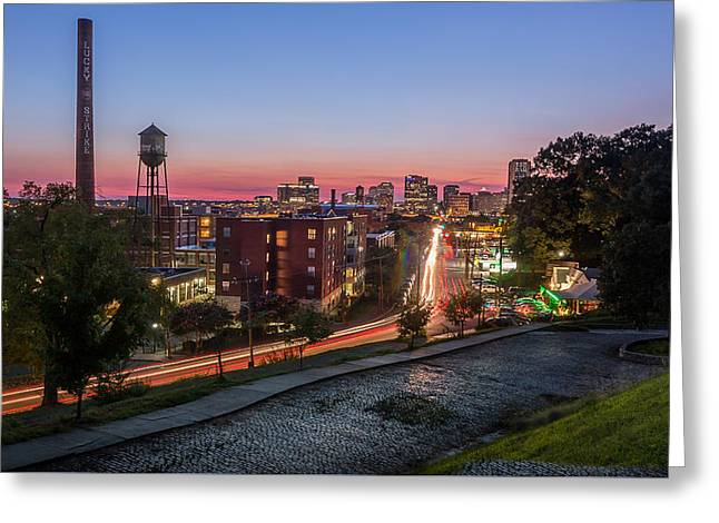 Sunset On Main Greeting Card by Kenny Stockman