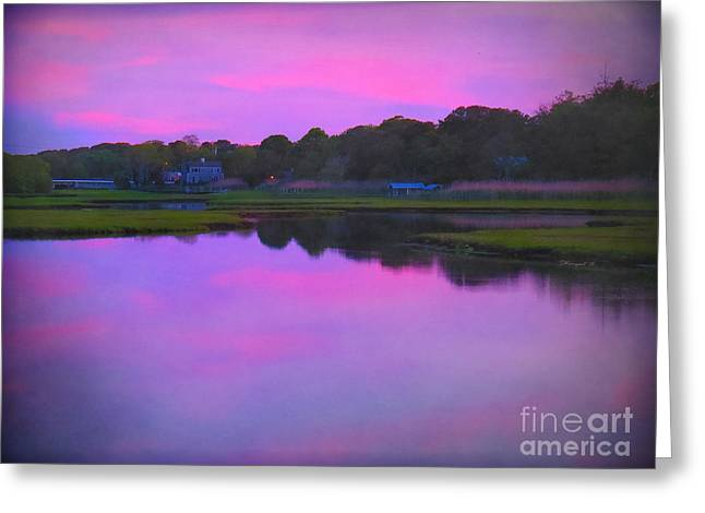 Sunset On Swan River Greeting Card by Shelly Weingart