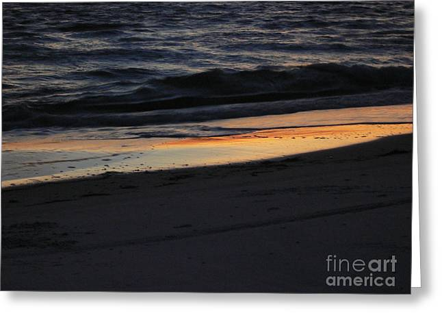 Beach Photos Greeting Cards - Sunset on the Beach Greeting Card by Lowell Anderson