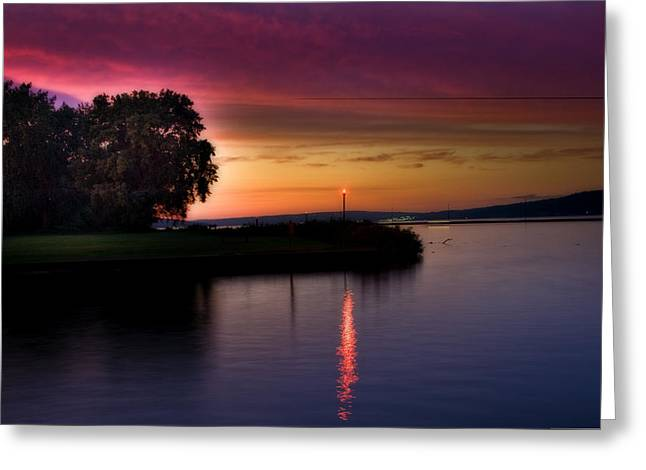Recently Sold -  - Ithaca Greeting Cards - Sunset on the Canal Greeting Card by Joseph Scaglione