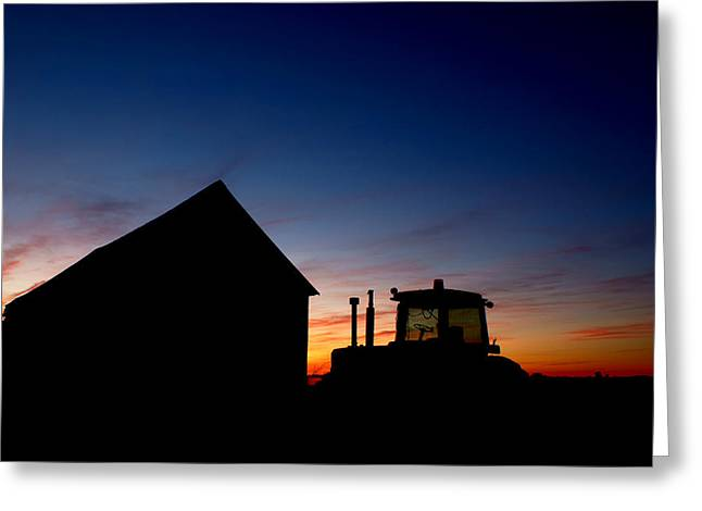 Chalmers Greeting Cards - Sunset on the Farm Greeting Card by Cale Best