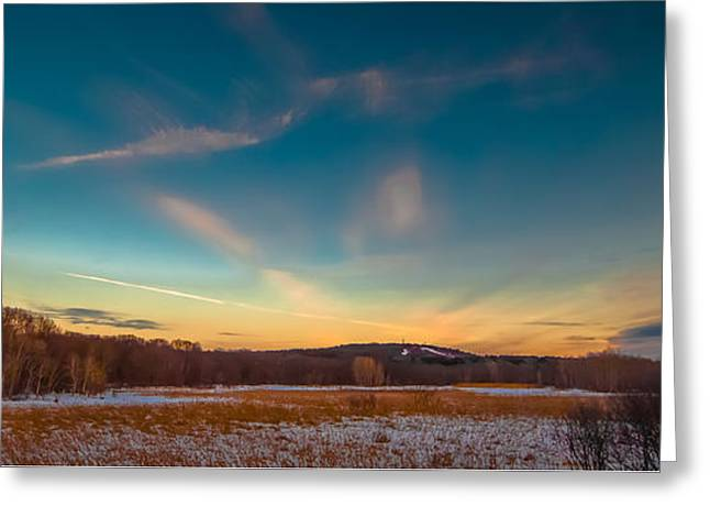 Canton Rd. Greeting Cards - Sunset on the Hill Greeting Card by Brian MacLean