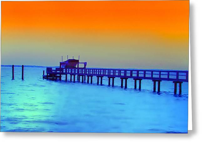 Dunedin Greeting Cards - Sunset on the Pier Greeting Card by Bill Cannon