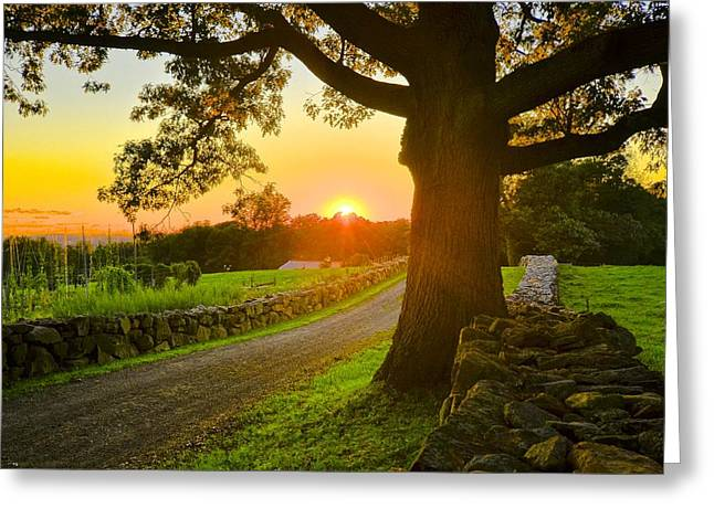 Bedford Hills Greeting Cards - Sunset on the Trails Greeting Card by Bedford Shore Photography