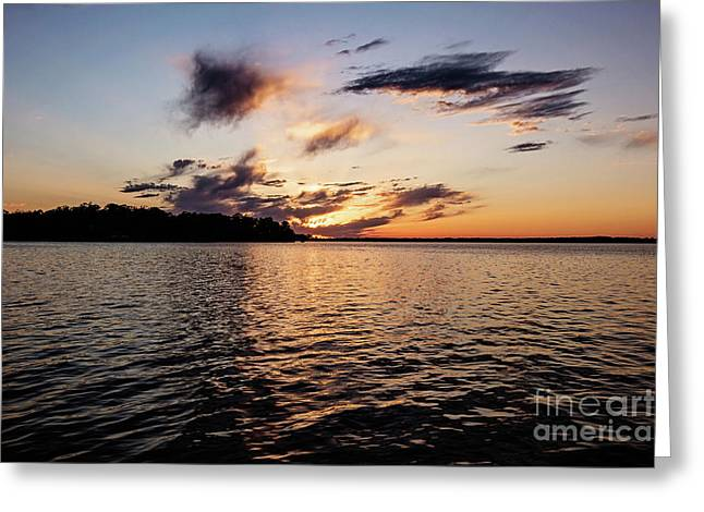 Sunset On Toldeo Bend Lake Greeting Card by Scott Pellegrin