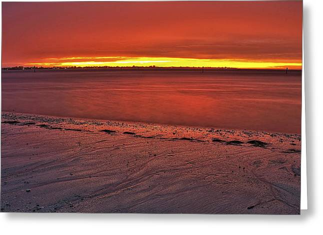 Anna Maria Island Greeting Cards - Sunset over Anna Maria Island Greeting Card by Jim Dohms