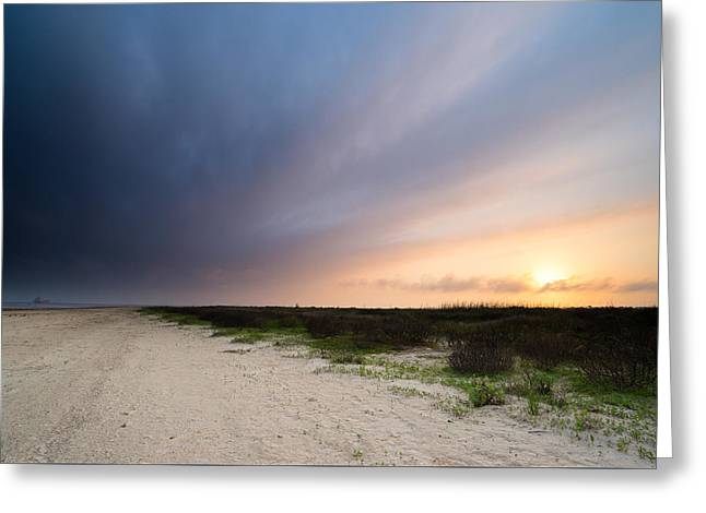 Sunset Over Bolivar Flats - Texas Greeting Card by Ellie Teramoto