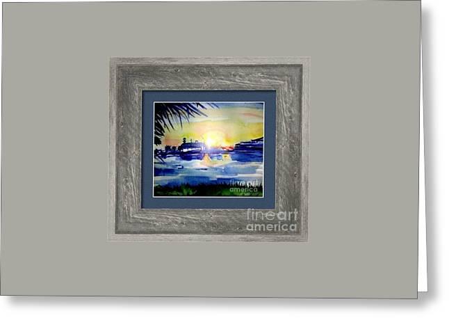Cedar Key Greeting Cards - Sunset over Cedar Key Greeting Card by Patricia Ducher