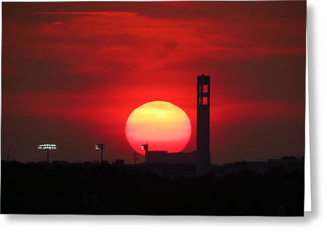 Ballpark Mixed Media Greeting Cards - Sunset over Jackie Robinson Ballpark #2 Greeting Card by Duff DeVaul
