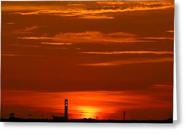 Ballpark Mixed Media Greeting Cards - Sunset over Jackie Robinson Ballpark #3 Greeting Card by Duff DeVaul