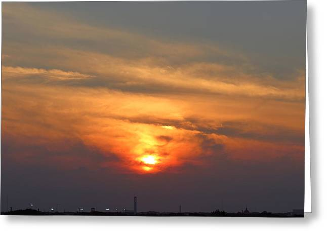 Ballpark Mixed Media Greeting Cards - Sunset over Jackie Robinson Ballpark Greeting Card by Duff DeVaul