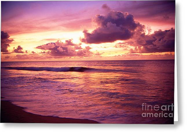 Vince Greeting Cards - Sunset Over Ocean Greeting Card by Vince Cavataio - Printscapes