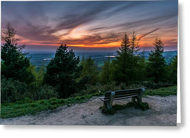 Beautiful Greeting Cards - Sunset Over Rivington. Greeting Card by Daniel Kay