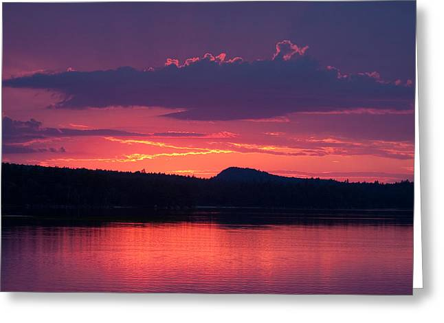 Brent L Ander Greeting Cards - Sunset Over Sabao Greeting Card by Brent L Ander