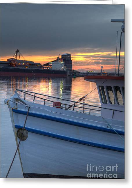 Stockton Greeting Cards - Sunset over the Bow Greeting Card by David Watson