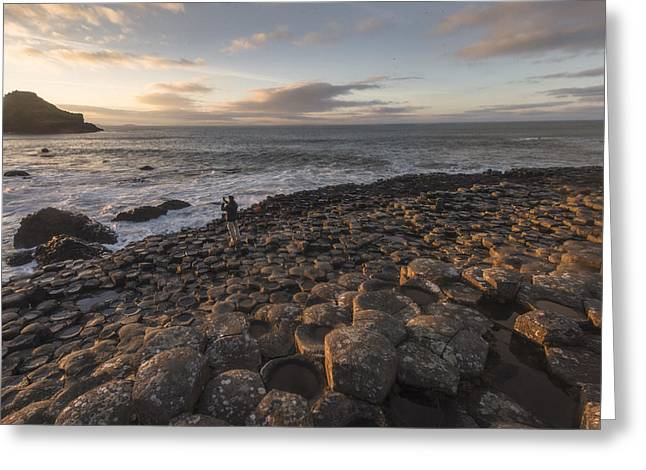 Fionn Mac Cumhaill Greeting Cards - Sunset over the Causeway Greeting Card by Euan Cherry