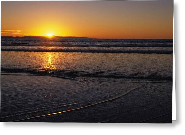 Ventura California Greeting Cards - Sunset Over The Pacific Ocean Greeting Card by Stacy Gold