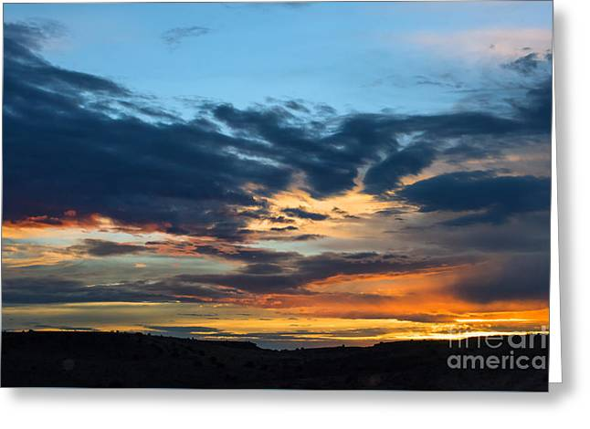 Storm Prints Greeting Cards - Sunset Over the Plains of the Texas Panhandle 1 Greeting Card by MaryJane Armstrong
