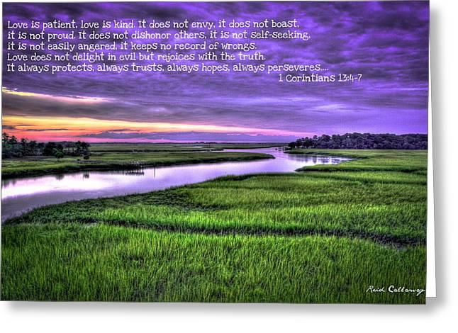 Sunset Over Turners Creek Love Greeting Card by Reid Callaway