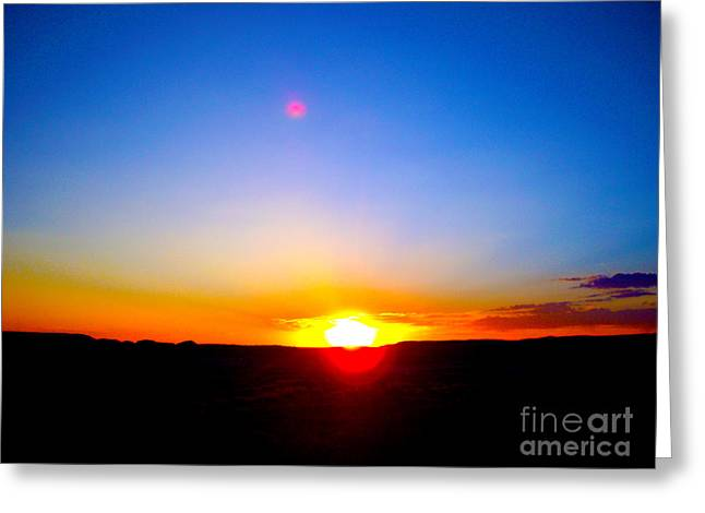 Testament Greeting Cards - Sunset over Wyoming  Greeting Card by Barbara Dalton