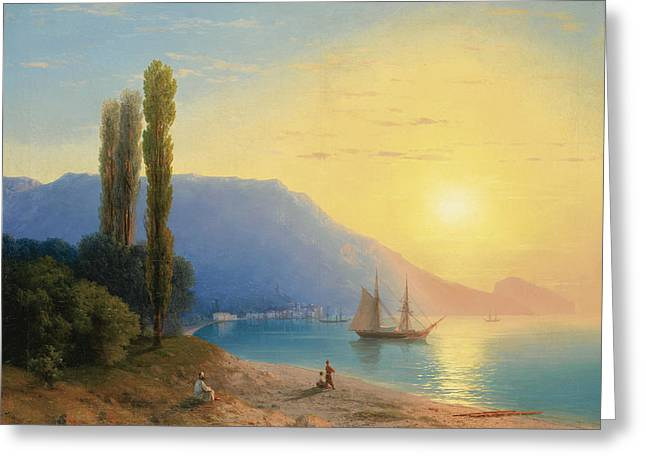 Sunset Over Yalta Greeting Card by Ivan Aivazovsky