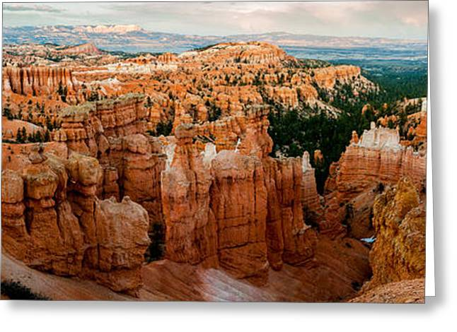 Southern Utah Greeting Cards - sunset Point Panoramic Greeting Card by TL  Mair