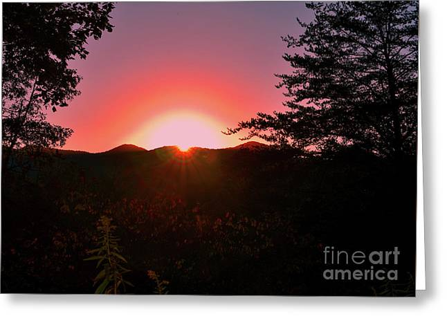 Sunset Reflection Greeting Card by Christal Randolph