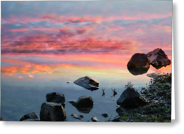 Sunset Reflection Greeting Card by Marcia Lee Jones
