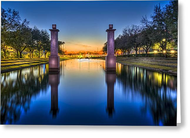 Sunset Reflection Greeting Card by Marvin Spates