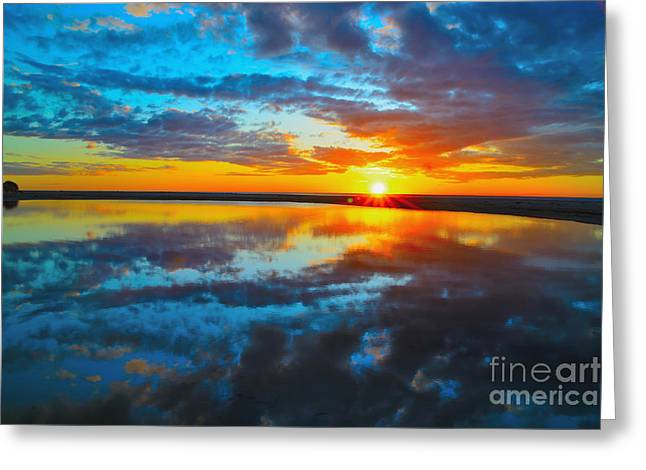 Beach Photography Greeting Cards - Sunset Reflections Greeting Card by Dennis Wat