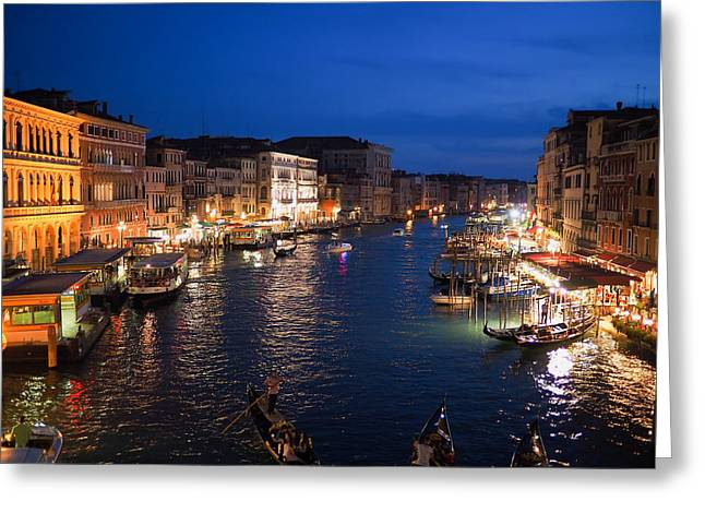 Italian Sunset Greeting Cards - Sunset Reflections Of Venice Greeting Card by Unsplash