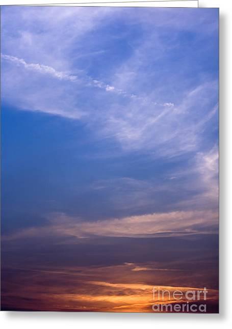 Coloured Greeting Cards - Sunset Scene Greeting Card by Dan Radi
