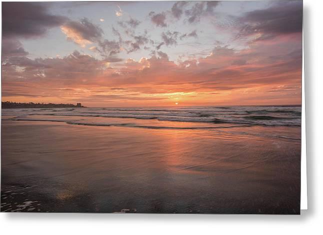 Sunset Scripps Beach Pier Img 5 La Jolla San Diego Ca Greeting Card by Bruce Pritchett