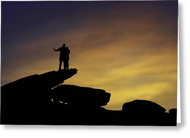 Sunset Selfie Greeting Card by Eduard Moldoveanu