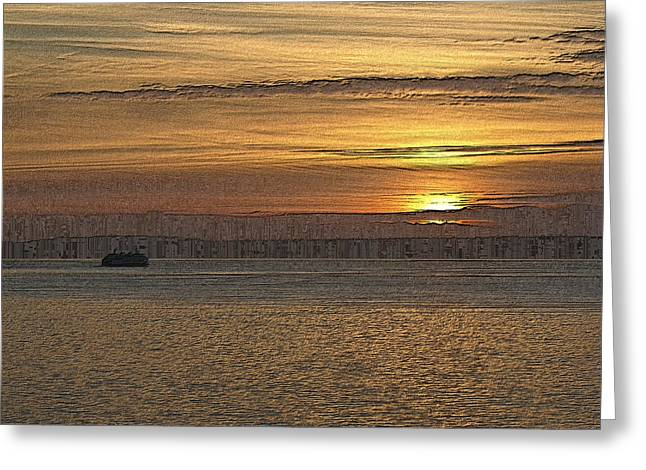 Gimp Greeting Cards - Sunset Serenade Greeting Card by Tim Allen