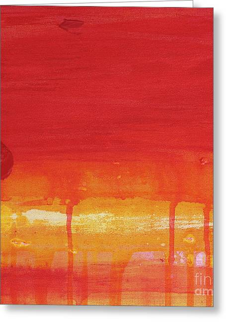 Mccoy Paintings Greeting Cards - Sunset Series Untitled II Greeting Card by Nickola McCoy-Snell