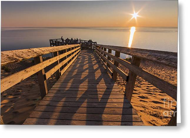 Scenic Drive Greeting Cards - Sunset Shadows Greeting Card by Twenty Two North Photography