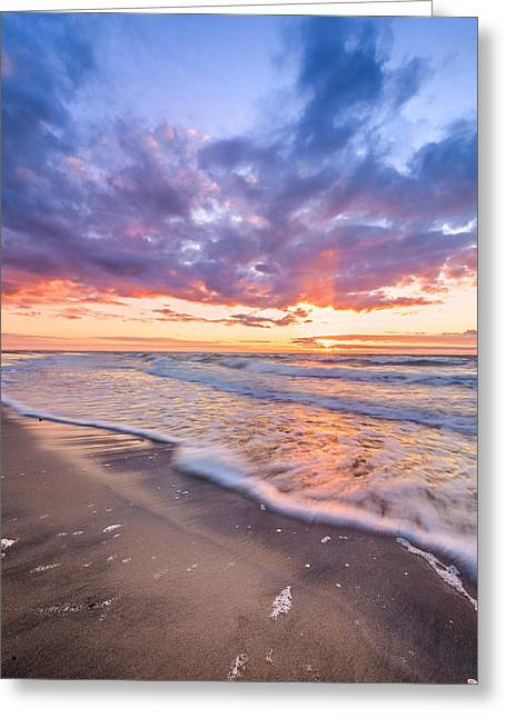 Kattegat Greeting Cards - Sunset shore Greeting Card by Catalin Tibuleac