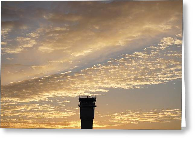 Abstract Nature Greeting Cards -  Glowing Sunset Sky Greeting Card by Sheela Ajith