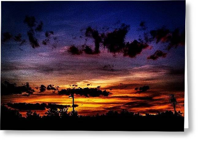 Print Photographs Greeting Cards - Sunset Sky Greeting Card by Victory  Designs