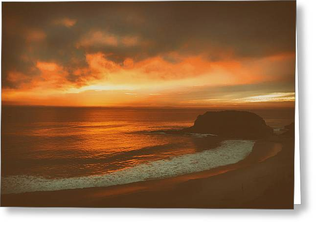 Colorful Cloud Formations Greeting Cards - Sunset Solitude Greeting Card by Matty McMatt