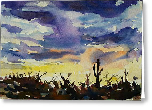 Sunset Sonora Greeting Card by Xueling Zou