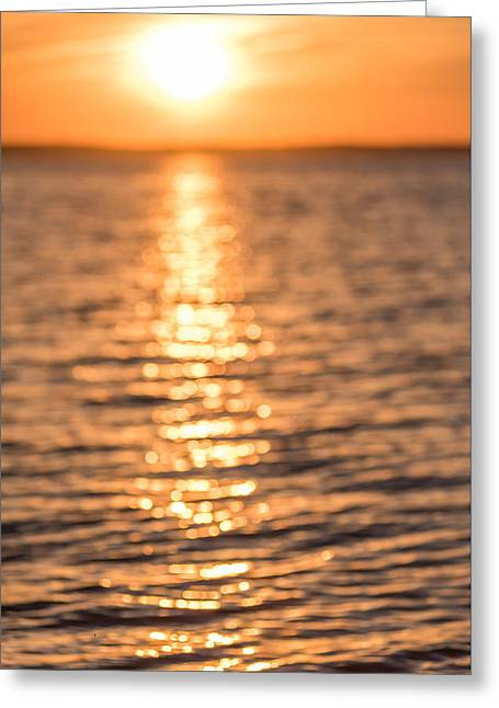 Throw Down Greeting Cards - Sunset Sparkles Greeting Card by Terry DeLuco