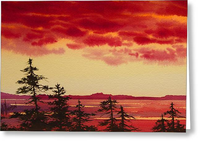 Sunset Prints Greeting Cards - Sunset Symphony Greeting Card by James Williamson