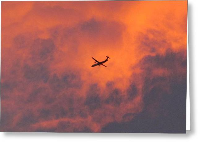 Greeting Cards - Sunset this morning  Greeting Card by Joyce Woodhouse