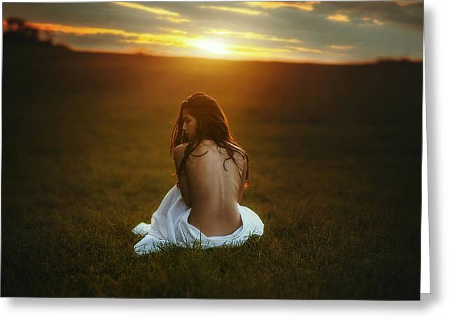 Artistic Photography Greeting Cards - Sunset Greeting Card by TJ Drysdale