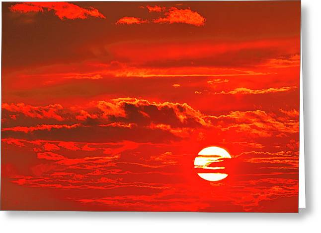 Sunset Greeting Card by Tony Beck