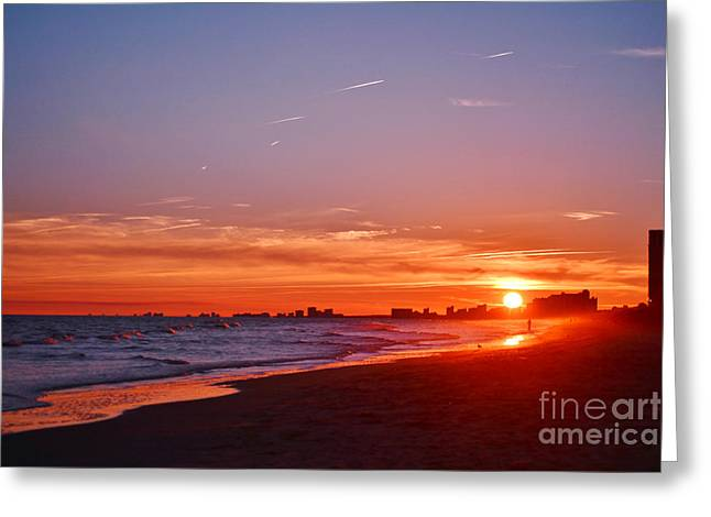 Ocean Art Photography Greeting Cards - Sunset Vibrance Greeting Card by Kelly Nowak