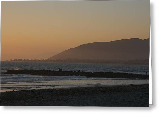 Sunset View Over The Pacific Ocean Greeting Card by Stacy Gold